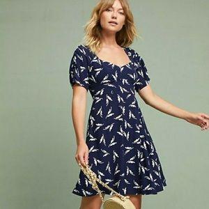 Maeve Blue printed dress